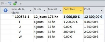 Consolidation des couts