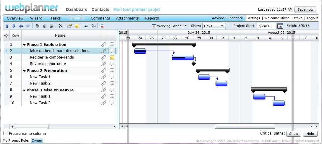 Choisir son logiciel de gestion de projet methodo projet pour les habitus du diagramme de gantt une interface sobre claire et lisible ccuart Choice Image