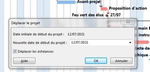 Déplacer le projet