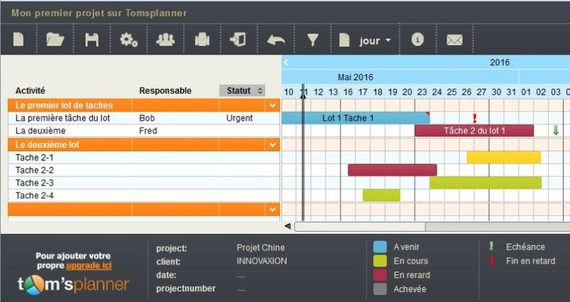 Choisir son logiciel de gestion de projet methodo projet diagramme de gantt en ligne mais rudement bien pens publiable en lecture seule et intgrable embeddable sur votre site gratuit pour 1 projet ccuart Choice Image