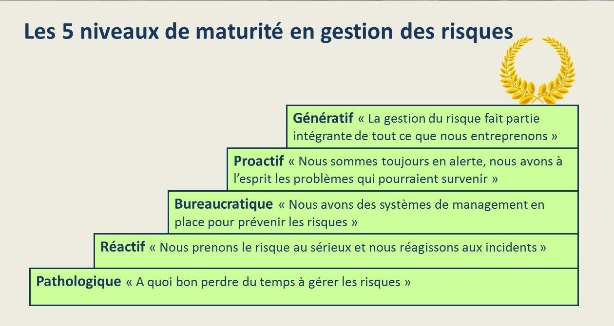 Niveaux de maturité en gestion des risques